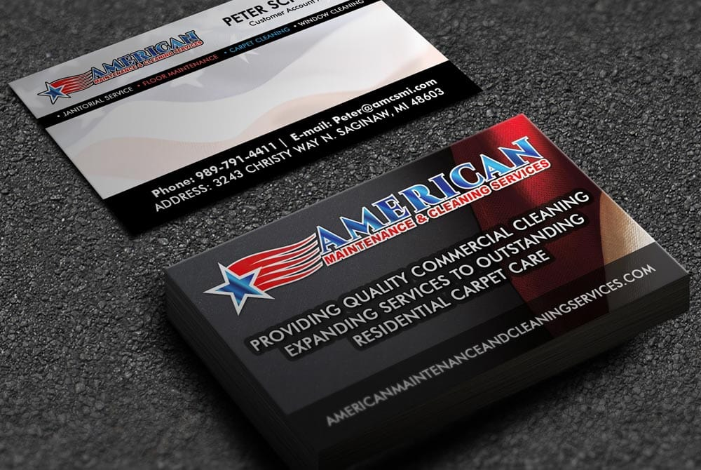 American Maintenance & Cleaning - Business Cards
