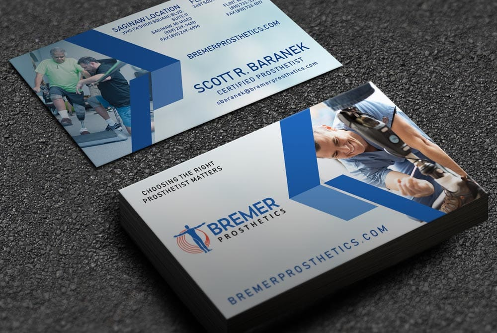 Bremer Prosthetics - Business Cards