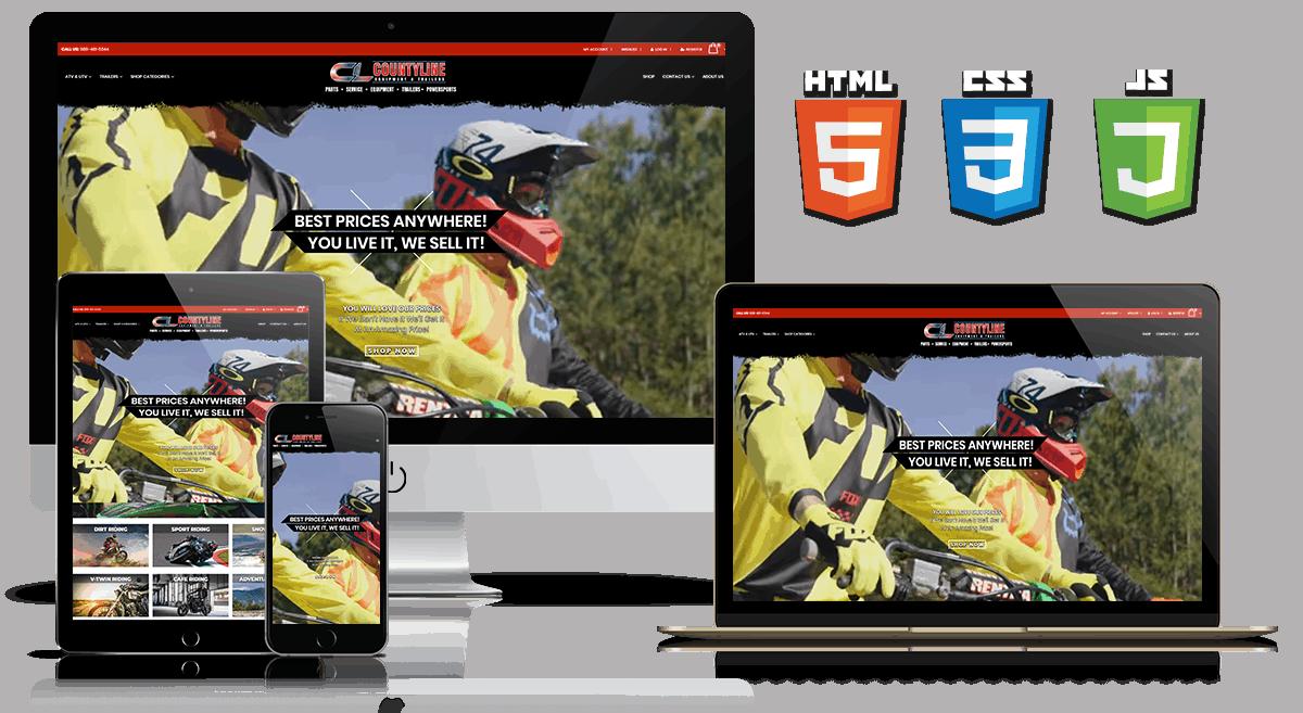 Countyline Equipment -Web Design Mockup