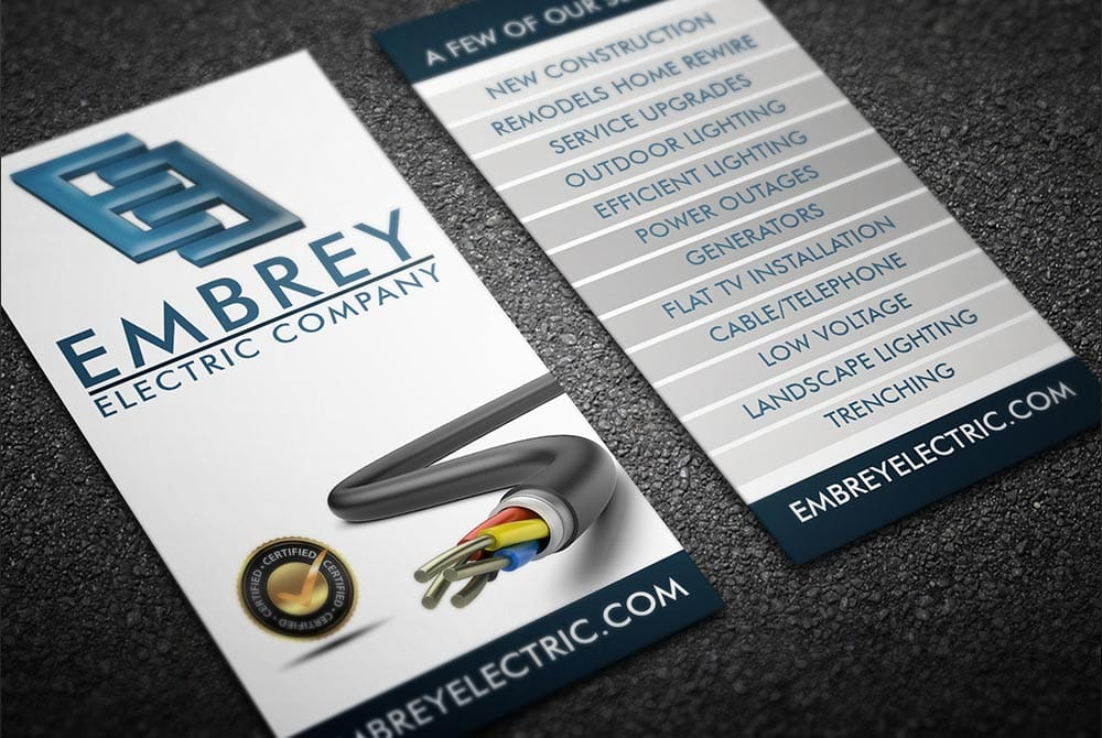 Embury Electric Co - Business Cards