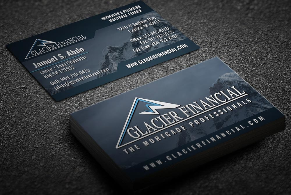 Glacier Financial - Business Cards