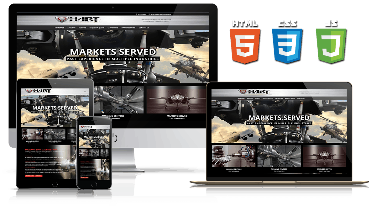 Hart Precision - Web Design Mockup