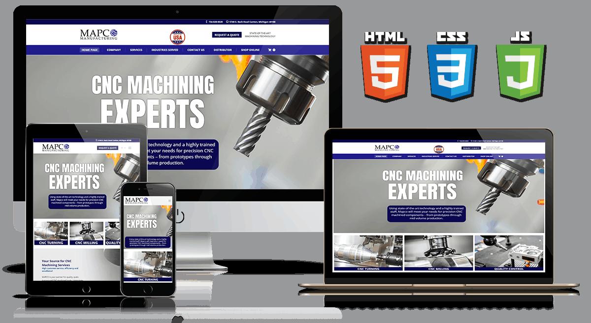 Mapco Manufacturing - Web Design Mockup