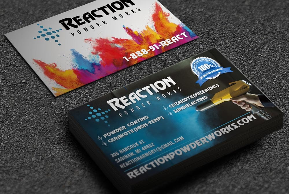 Reaction Powder Works - Business Cards