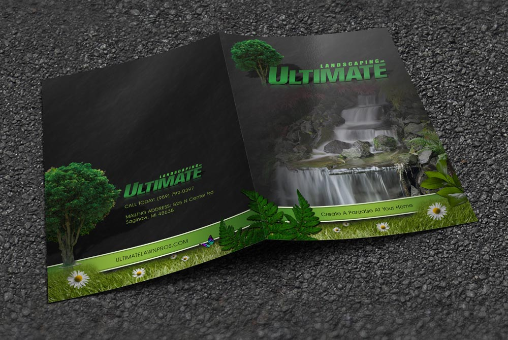 Ultimate Landscaping - Presentation Folder Outside