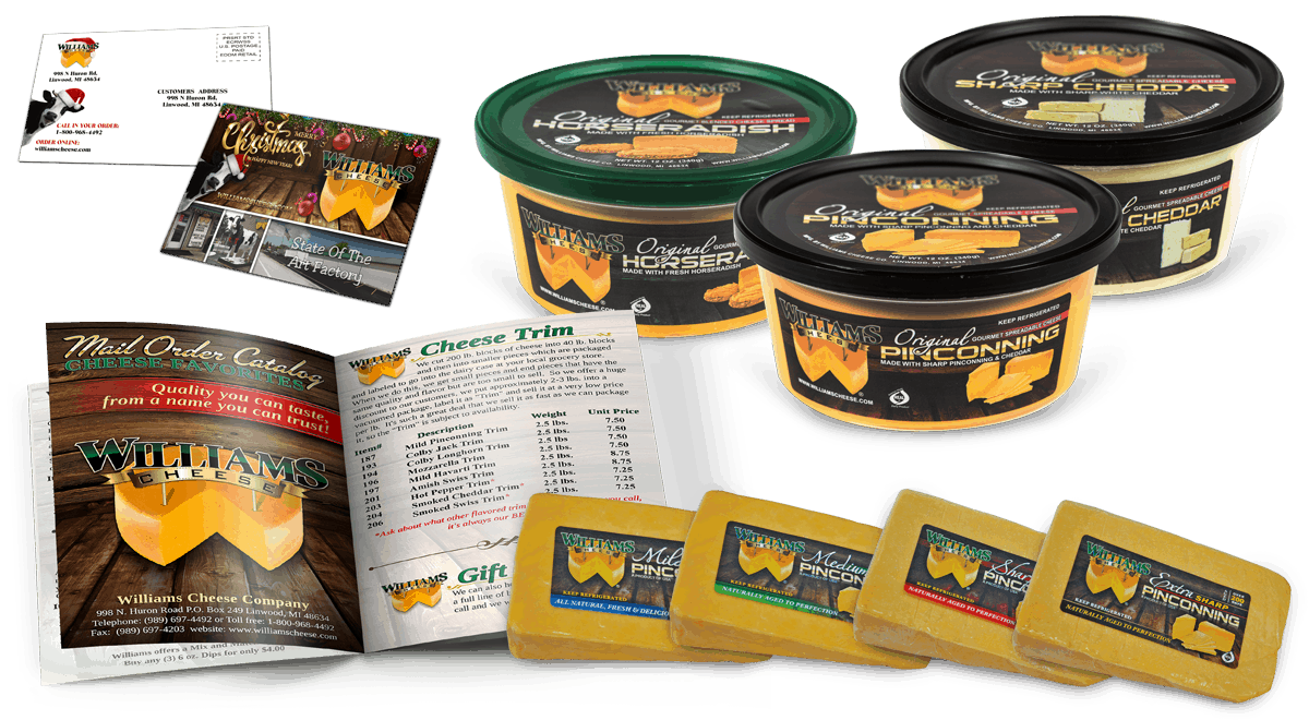 Williams Cheese - Brand Mockups