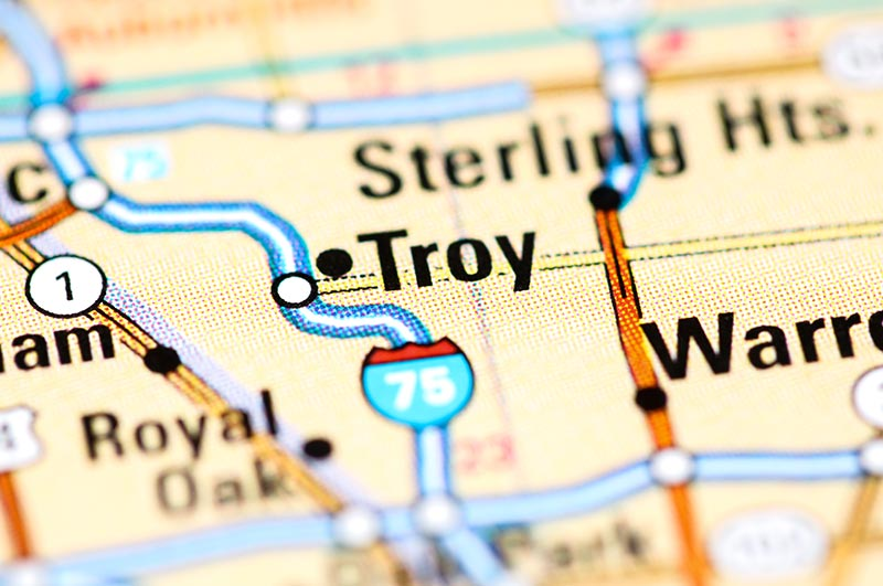 Troy - Michigan Map